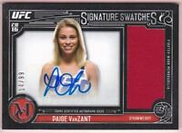 PAIGE VANZANT 2016 TOPPS UFC MUSEUM COLLECTION SIG SWATCHES AUTO RELIC #14/99