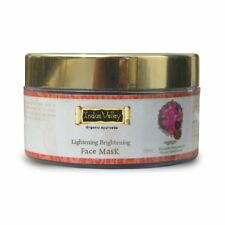100 % Indus Valley Organic Rose & Chandan Face Pack For Glowing Skin Free Ship