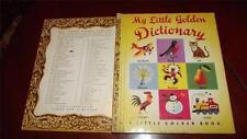 MY LITTLE GOLDEN DICTIONARY SCROLL Little golden book #90 1949A RICHARD SCARRY
