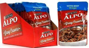 12 Count Purina 3.5 Oz Alpo Gravy Cravers Beef Adult Dog Food BB 3/2022