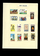 New Zealand Album Page Of Stamps #V5254