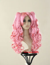 SWEET WAVY PINK PONYTAIL COSTUME DANCER ACTOR MODEL WIG