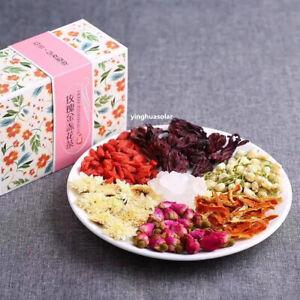玫瑰茉莉枸杞玫瑰茄菊花陈皮茶 Rose Jasmine flower Tea / Roselle Rugosae Chrysanthemum Tea 200g