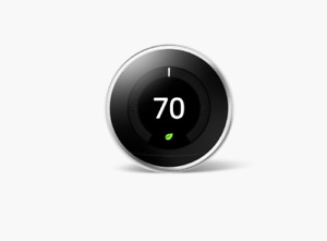 Google Nest Programmable Learning Thermostat 3rd Gen - Polished Steel (T3019US)