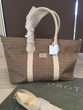 BNWT IVORY OROTON STENCIL TOTE OVERNIGHT CARRY TRAVEL SHOULDER BAG RRP $495