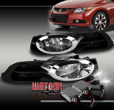 FOR 12-13 HONDA CIVIC 2DR COUPE BUMPER DRIVING CHROME FOG LIGHTS LAMPS W//HARNESS