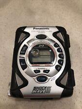 Panasonic Walkman Shockwave Radio Cassette Player Rq-Sw33V Fm/Am Silver w/clip