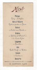 MENU ANCIEN DU 6 JANVIER 1906 - Gastronomie Restauration - Vintage