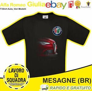 T-Shirt ALFA ROMEO GIULIA - Car Italian Motor Motori Automobile Idea Regalo Cars