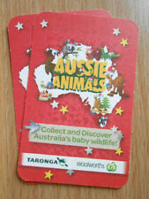 ** Woolworths Aussie Animals Cards ** 5 for $1.00 ** (RED Edition)  **