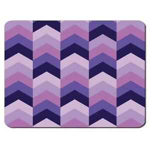 PURPLE CHEVRON PC Computer Mousemat Mouse Mat Pad AztecTribal Colourful Zig Zag