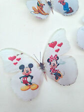 4 Micky Mouse Minnie Pluto Goofy Donald Daisy Duck 3D Wall Sticker Butterflies