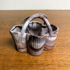 Antique Sowerby Glass Purple Slag Basket Victorian Rare