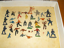 Lotto soldatini cowboy indiani tipo nardi componibili vintage toys old game