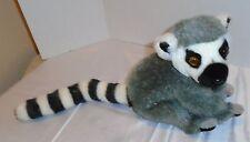 "Aurora World Inc. Lemur Lemer Ring Tailed Plush stuffed animal toy 12"""