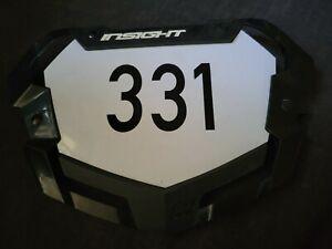 Insight BMX Number Pro Plate Black