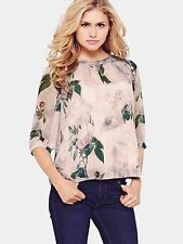 3/4 Sleeve Collarless Semi Fitted Other Tops for Women