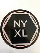 "D'Addario NYXL Sticker Orange Silver and Black 4"" Circle"
