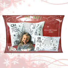 "Kids Christmas Themed Pillow Cases - ""OH WHAT FUN"""