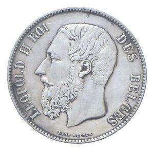 1873 Belgium 5 Francs - SILVER *524