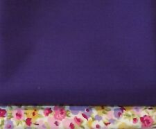 Rich Purple 100% Cotton Fabric 112 cm wide - Sold by the Half Metre