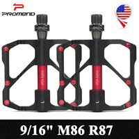 Promend 9/16 in M86 R87 MTB Road Bike Pedals 3 Sealed Bearings Ultralight Alloy