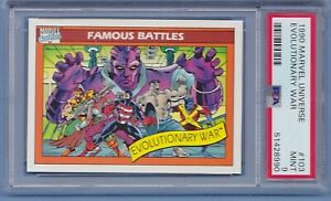 1990 Marvel Universe #103 Evolutionary War PSA 9 Mint series 1