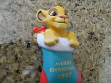 Grolier Collectible - Disney Simba - 1997 Disney Christmas Ornament- Lion King