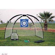 Golf Chipping Net Driving Mat Practice Set Swing Equipment Bag Training Outdoor