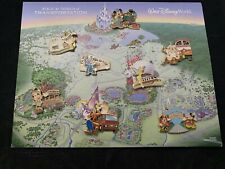 Disney WDW Magical World of Transportation Pursuit 8 Pins +Artist Illustration
