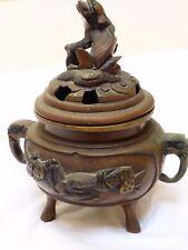 Vintage Chinese Brass Incense Burner