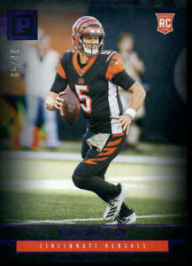 2019 CHRONICLES PURPLE CANVAS #P23 RYAN FINLEY 36/49 ROOKIE CARD BENGALS