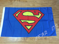 SUPERMAN FLAG 3x5FT 90x150CM TWO GROMMETS BLUE YELLOW RED