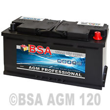 AGM Autobatterie 120AH - 1100A/EN Start Stop ersetzt 105AH 110AH Audi BMW VW
