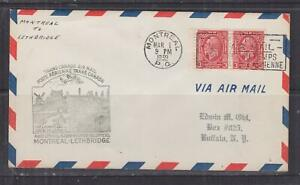 CANADA, 1939 First Flight cover, MONTREAL to Lethbridge, 3c. Conference (2)