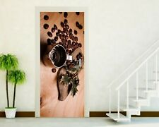 Adhesives Doors Sticker Port Wall Stickers Home Decoration Coffee' Coffee P112