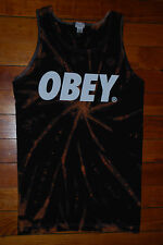 "Men's OBEY Propaganda ""Headliner"" Black Tie Dye Tank Top (Small)"