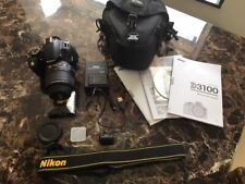 Nikon D3100 Digital SLR Camera AF-S DX NIKKOR 18-55mm f/3.5-5.6G VR lens - USED