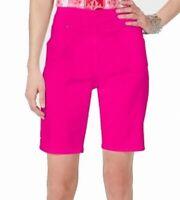 INC Women's Shorts Hot Intense Pink Size 8 Bermuda Walking Pull-On $49 #789