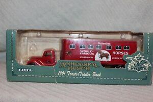 1993 ERTL ANHEUSER BUSCH 1941 TRACTOR TRAILER DIE CAST 1/43 SCALE LOCKING BANK