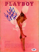 Jo Collins SIGNED August 1965 Playboy Magazine + PMOY 1965 PSA/DNA AUTOGRAPHED