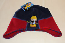 Bob The Builder Boys Navy Maroon Embroidered Fleece Beanie Size 4 - 6 New