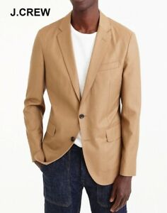J.CREW Ludlow 38S unstructured blazer beige tan jacket wool cotton slim-fit 38 S