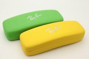 Original 2 Ray Ban Kids Eyeglasses Sunglasses Case Verity Red Green Yellow Blu