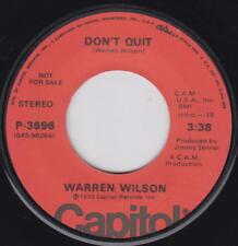 Northern Soul WARREN WILSON 45rpm Capitol P-3696 PROMO Don't Quit / Don't Quit