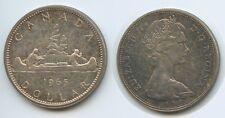 G6504 - Kanada Dollar 1965 KM#64.1 Kanu Silber Elizabath II. Canada