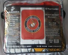 Us Marines Queen Size Heavyweight Blanket
