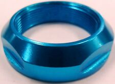 Scooter Headset Fork Alloy Lock Nut Locking Ring BLUE