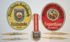 Uralte Vorkrieg Bieretiketten BE Kulmbacher Rizzibräu Kulmbach +Werbezahnstocher