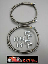 Stainless steel braided transmission hoses lines fittings TH-350 700R4 trans